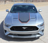 front of silver 2020 Ford Mustang Stripes SUPERSONIC KIT Digital Print 2018-2021
