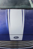 front of blue 2018 Ford Fusion Hood Stripes DAGGER HOOD 2013-2018
