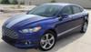 side of blue 2018 Ford Fusion Hood Stripes DAGGER HOOD 2013-2018
