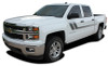 front angle Chevy Silverado Bed Stripes TRACK XL 2013-2015 2016 2017 2018