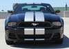 front view 2013 Ford Mustang Dual Racing Stripes THUNDER 2013-2014