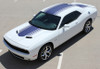 front angle of 2020 R/T Dodge Challenger Stripes SHAKER 2015-2018 2019 2020 2021