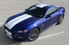 front angle 2016 Ford Mustang Dual Racing Stripes STALLION 2015-2017