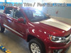 side of red 2020 Chevy Colorado Hood Graphics SUMMIT HOOD 2015-2021