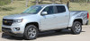 side view of silver 2018 Chevy Colorado Graphics ANTERO 2015-2019 2020 2021
