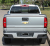 rear view of silver 2018 Chevy Colorado Tailgate Decals GRAND TAILGATE 2015-2020