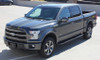 front angle of 2018 Ford F150 Center Decals BORDERLINE 2015-2017