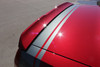 close up of red 2017 Dodge Challenger Rear Graphics TAIL BAND 2015-2021