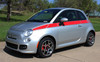 front angle of Fiat 500 Custom Side Stripe Graphics SE5 CHECK 2012-2019