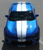 front of blue 2018 Camaro Rally Stripes TURBO RALLY 2016 2017 2018