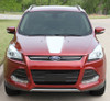 front view red Ford Escape Hood Stripes CAPTURE HOOD 2013-2017 2018