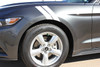 side view 2017 Ford Mustang Fender Stripes 2015-2018 DOUBLE BAR