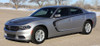 front of silver C Stripe 15 : Dodge Charger Hood and Side Stripes 2015-2021