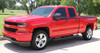 front of red 2014 2015 2016 2017 2018 Chevy Silverado Door Stripes BREAKER