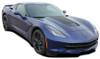 front angle of 2017 Chevy Corvette Hood Stripes HOOD 2014-2018 2019