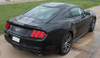 rear angle of 2017 Ford Mustang FADED RALLY Racing Stripes 2015-2016-2017