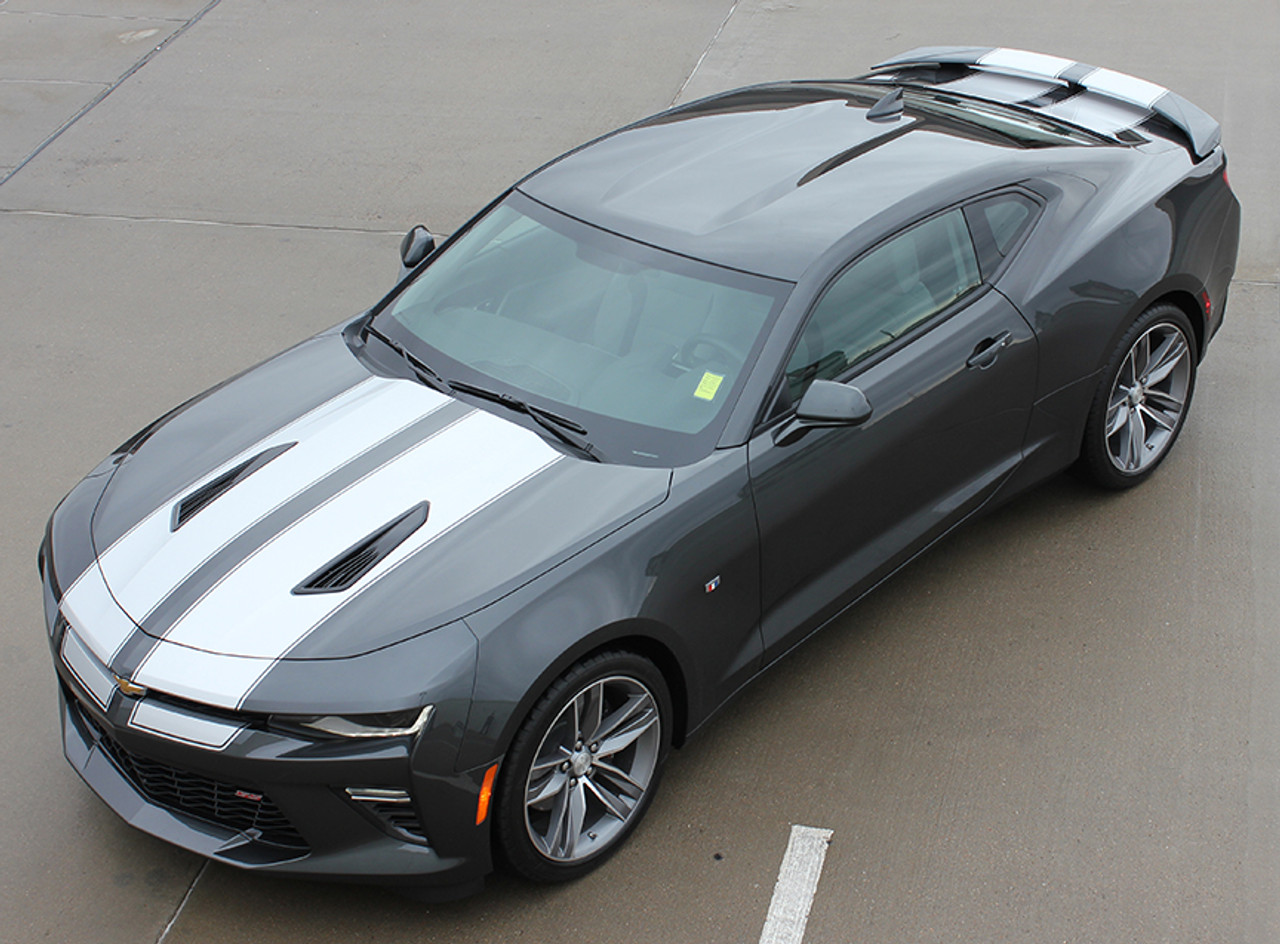 Choose Color Chevrolet Camaro 2016-2018 Over The Top Racing Double Stripes