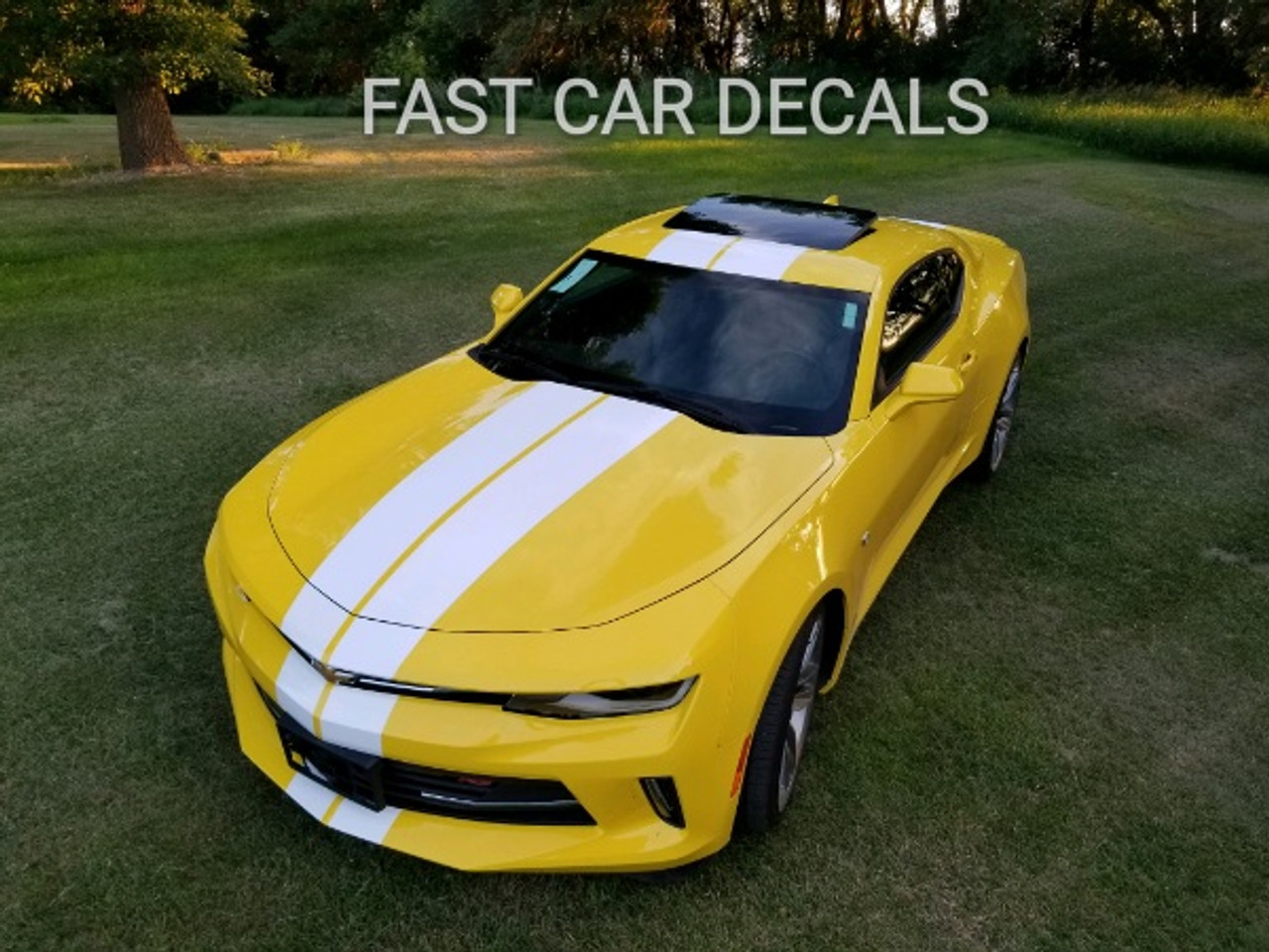 2018 2017 2016 Camaro Turbo Rally Dual Racing Stripes Vinyl Graphic Decal SS V6