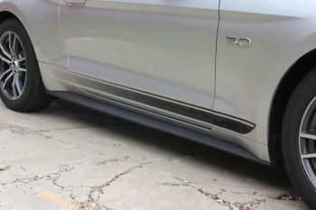 passenger side FADED ROCKER | Ford Mustang Stripe Black & Mustang text 2015-2018