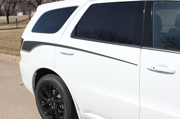 rear of 2019 Dodge Durango Side Stripes PROPEL SIDE KIT 2011-2020