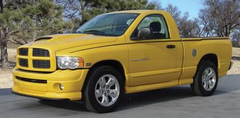profile of yellow Dodge Ram Truck Stripes CROSSROADS 3M 2009-2016 2017 2018