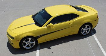 top view Chevy Camaro Hood and Side Stripes 3M 2009-2015 SWITCHBLADE