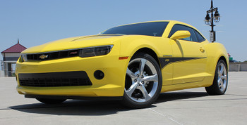 front angle Chevy Camaro Hood and Side Stripes 3M 2009-2015 SWITCHBLADE