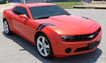 side of Chevy Camaro Fender Hashmark Decals DOUBLE BAR 2009-2015