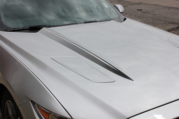 close up Faded Hood Stripes for 2017 Ford Mustangs HOOD SPEARS 2015 2016 2017