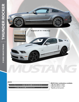flyer for Rocker Panel Graphics for Mustang THUNDER ROCKER 2010-2014