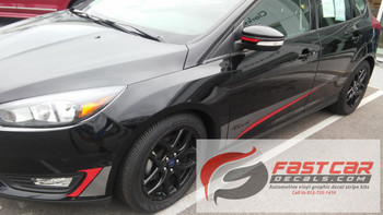 front angle of Ford Focus Graphics Package BLADE 2015 2016 2017 2018