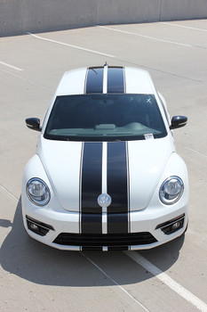 front view of VW Beetle Center Dual Stripes BEETLE RALLY 3M 2012-2017 2018