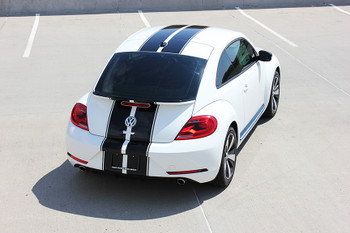 rear of VW Beetle Center Dual Stripes BEETLE RALLY 3M 2012-2017 2018