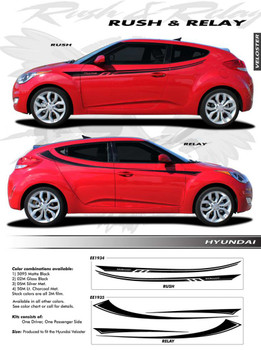 flyer 2018 Hyundai Veloster Decals RUSH 2011-2015 2016 2017 2018