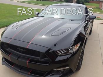 front angle of Mustang Vinyl Graphics STALLION SLIM 2015 2016 2017