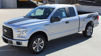 front of Ford F150 Rear Bed Graphics ROUTE RIP 2015 2016 2017 2018 2019 2020