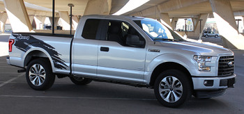 side of silver 2017 F150 Side Stripes TORN 2015-2018 2019 2020 2021
