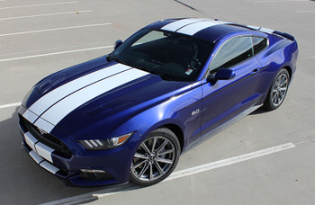 front angle 2016 Ford Mustang Racing Stripes STALLION 2015 2016 2017