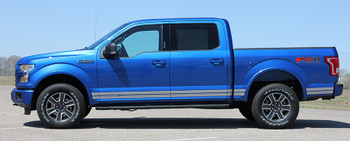 side of blue 2017 Ford F150 Decals 15 150 ROCKER 1 2015-2021