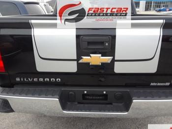 rear of black 2018 Chevy Silverado Rally Stripes CHASE RALLY 2016 2017 2018