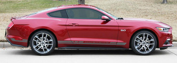 profile of red BEST! Mustang Stripes Kit HASTE 3M 2015 2016 2017 2018