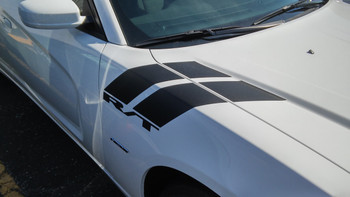 fender of white 2016 Dodge Charger Fender Stripes 15 DOUBLE BAR 2011-2020