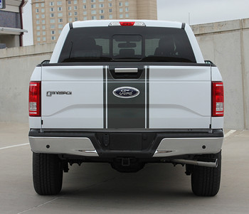 rear of 2017 F150 Center Decals 150 CENTER STRIPE 2015-2017