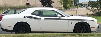 white Shaker 2017 Dodge Challenger RT Stripes DUEL 15 2015-2021
