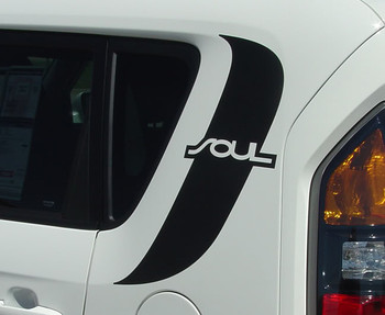 close up of quarter of Kia Soul Decals SOULPATCH 3M 2010-2014 2015 2016 2017 2018