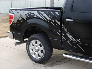 rear view of Ford Raptor Decals PREDATOR 2009-2011 2012 2013 2014