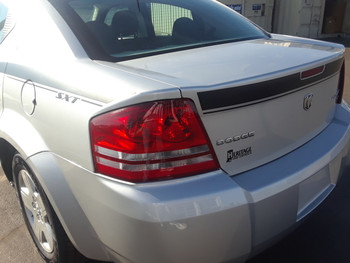 rear view of 2014 Dodge Avenger Decals AVENGED 2008-2011 2012 2013 2014