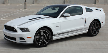 profile of white Ford Mustang GT CS Decals CALI California EDITION 2013-2014