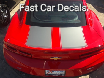 rear of red 2016 Camaro Rally Stripes CAM SPORT PIN 2016 2017 2018 | FCD