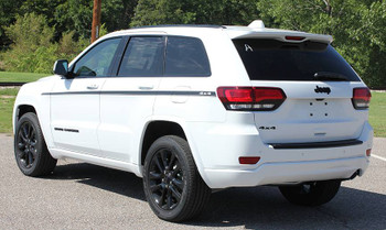side of white 2019 Jeep Grand Cherokee Side Stripes PATHWAY 2011-2020